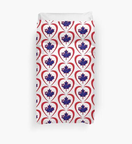 Kiwi Canadian Multinational Patriot Flag Series (Heart) Duvet Cover