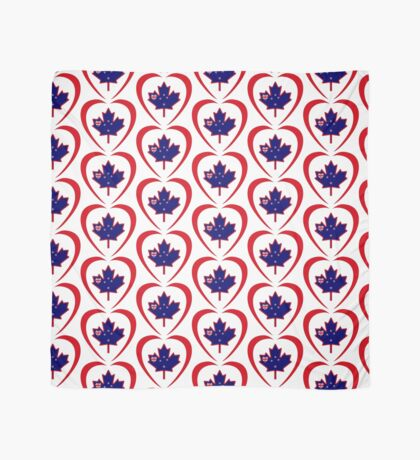 Kiwi Canadian Multinational Patriot Flag Series (Heart) Scarf