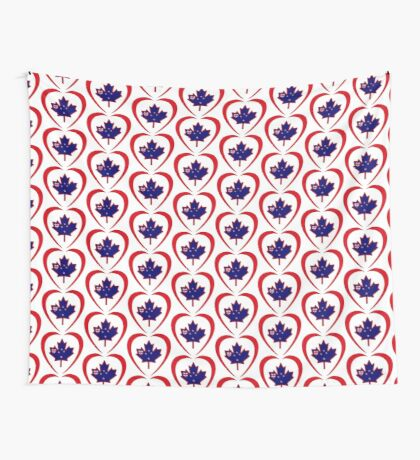 Kiwi Canadian Multinational Patriot Flag Series (Heart) Wall Tapestry