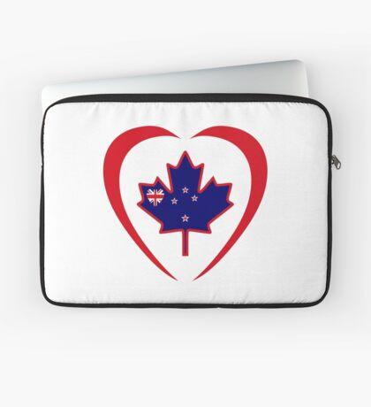 Kiwi Canadian Multinational Patriot Flag Series (Heart) Laptop Sleeve