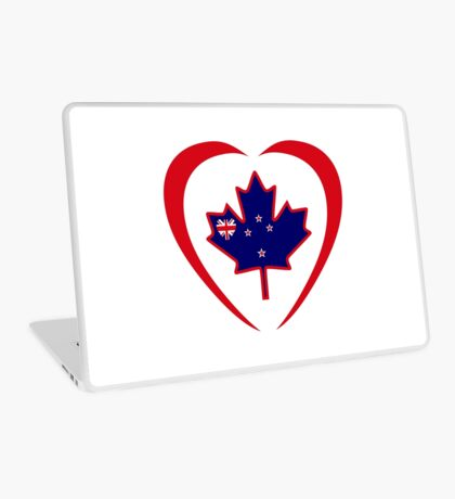 Kiwi Canadian Multinational Patriot Flag Series (Heart) Laptop Skin