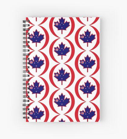 Kiwi Canadian Multinational Patriot Flag Series Spiral Notebook