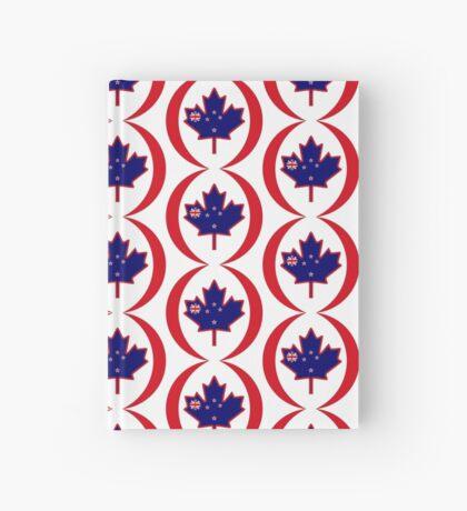Kiwi Canadian Multinational Patriot Flag Series Hardcover Journal