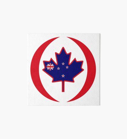 Kiwi Canadian Multinational Patriot Flag Series Art Board Print