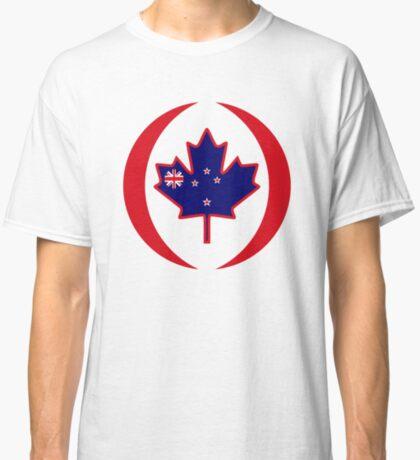 Kiwi Canadian Multinational Patriot Flag Series Classic T-Shirt