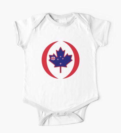 Kiwi Canadian Multinational Patriot Flag Series Kids Clothes