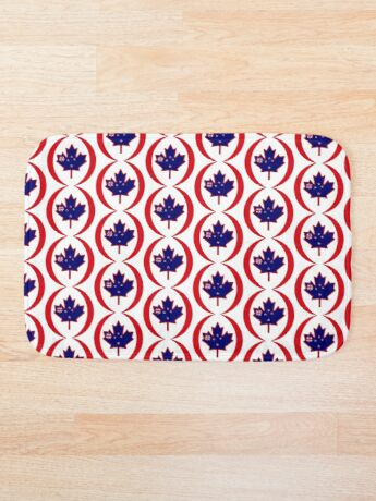 Kiwi Canadian Multinational Patriot Flag Series Bath Mat
