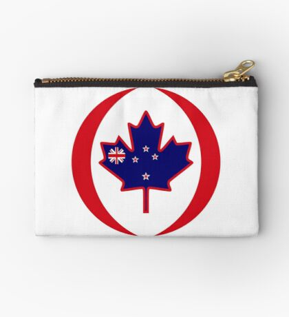 Kiwi Canadian Multinational Patriot Flag Series Zipper Pouch