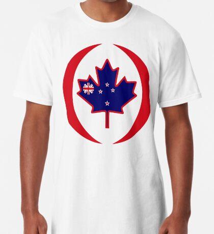 Kiwi Canadian Multinational Patriot Flag Series Long T-Shirt