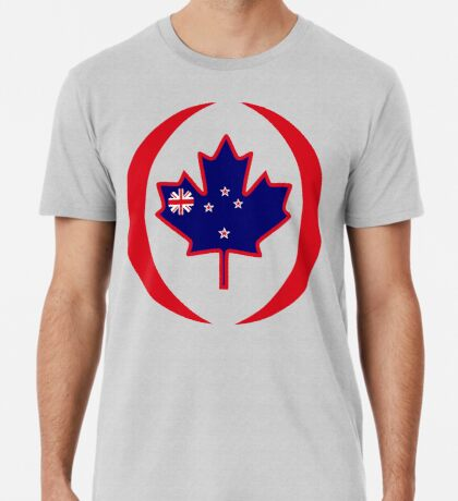 Kiwi Canadian Multinational Patriot Flag Series Premium T-Shirt