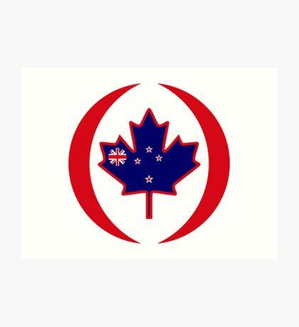 Kiwi Canadian Multinational Patriot Flag Series Art Print