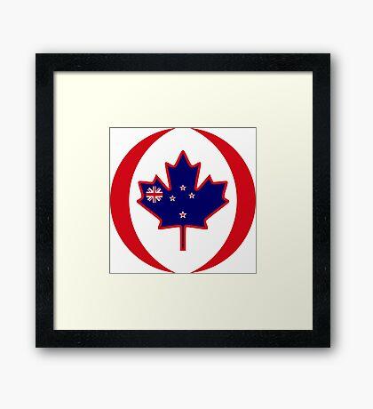 Kiwi Canadian Multinational Patriot Flag Series Framed Print