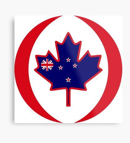 Kiwi Canadian Multinational Patriot Flag Series Metal Print