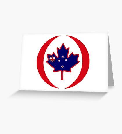 Kiwi Canadian Multinational Patriot Flag Series Greeting Card