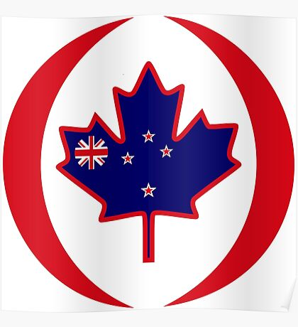 Kiwi Canadian Multinational Patriot Flag Series Poster