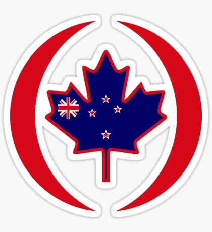 Kiwi Canadian Multinational Patriot Flag Series Sticker