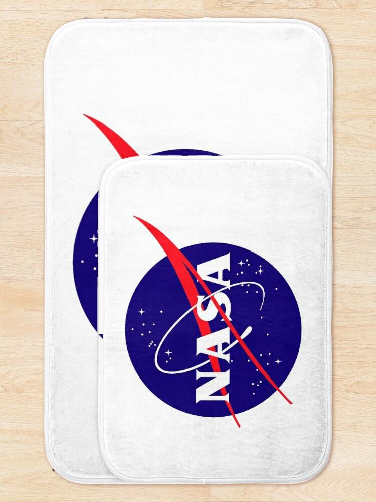 Alternate view of Official NASA (meatball) Logo Bath Mat