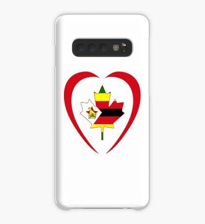 Zimbabwean Canadian Multinational Patriot Flag Series (Heart) Case/Skin for Samsung Galaxy