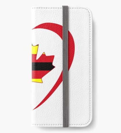 Zimbabwean Canadian Multinational Patriot Flag Series (Heart) iPhone Wallet