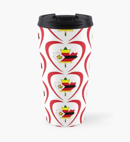 Zimbabwean Canadian Multinational Patriot Flag Series (Heart) Travel Mug