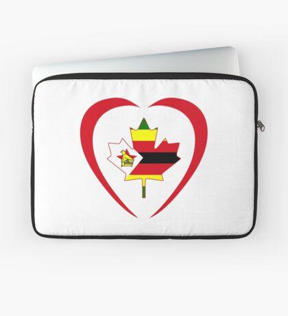 Zimbabwean Canadian Multinational Patriot Flag Series (Heart) Laptop Sleeve
