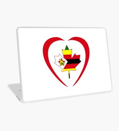 Zimbabwean Canadian Multinational Patriot Flag Series (Heart) Laptop Skin