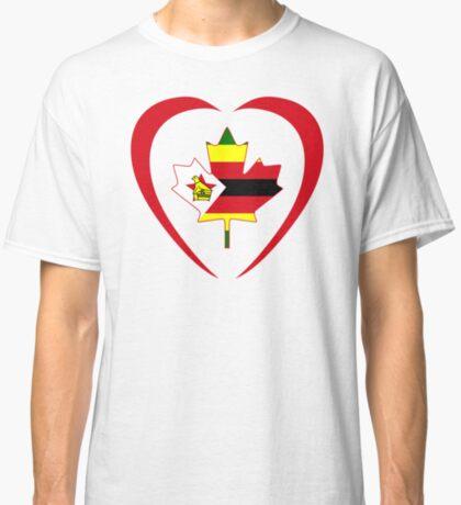 Zimbabwean Canadian Multinational Patriot Flag Series (Heart) Classic T-Shirt