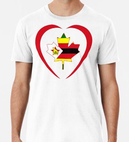 Zimbabwean Canadian Multinational Patriot Flag Series (Heart) Premium T-Shirt