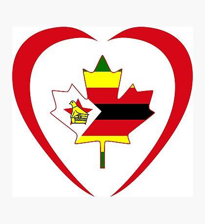Zimbabwean Canadian Multinational Patriot Flag Series (Heart) Photographic Print