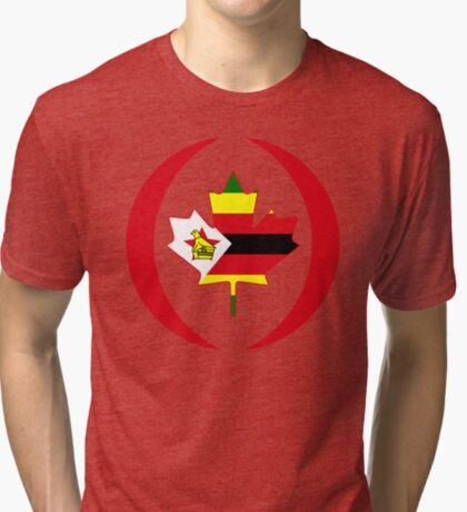 Zimbabwean Canadian Multinational Patriot Flag Series Tri-blend T-Shirt