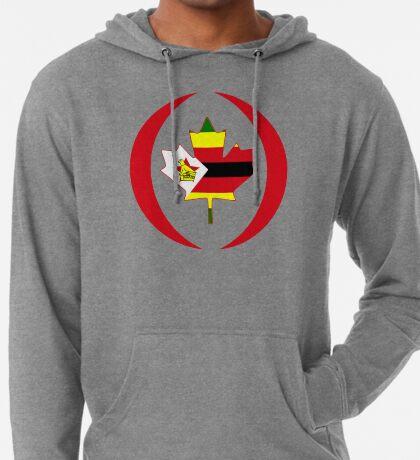 Zimbabwean Canadian Multinational Patriot Flag Series Lightweight Hoodie