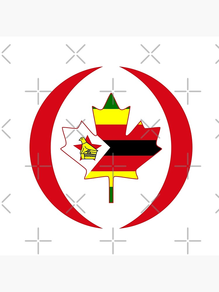 Zimbabwean Canadian Multinational Patriot Flag Series by carbonfibreme
