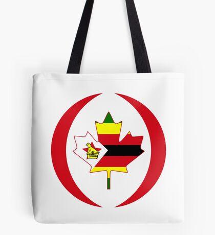 Zimbabwean Canadian Multinational Patriot Flag Series Tote Bag