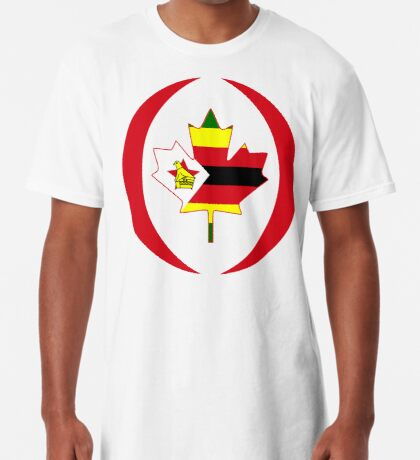 Zimbabwean Canadian Multinational Patriot Flag Series Long T-Shirt