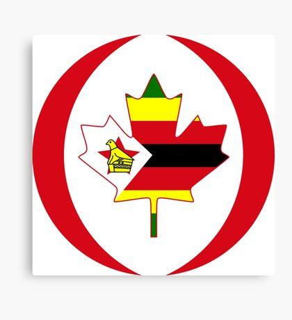 Zimbabwean Canadian Multinational Patriot Flag Series Canvas Print