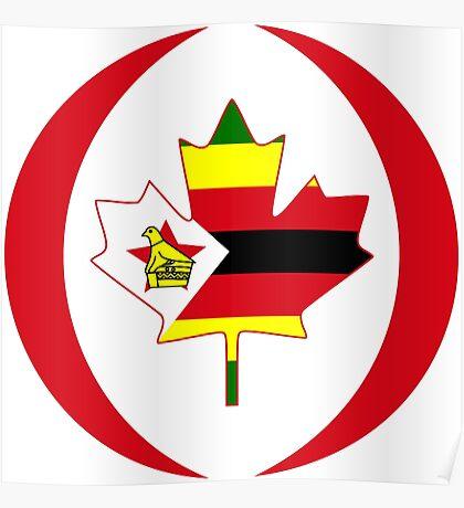 Zimbabwean Canadian Multinational Patriot Flag Series Poster