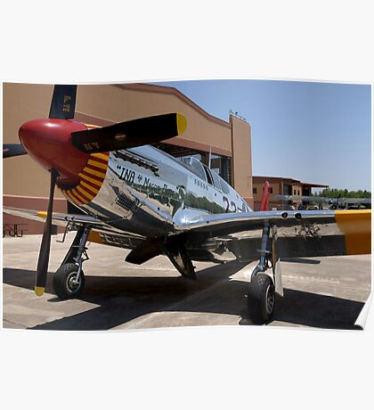 """""""INA The Macon Belle"""": P-51C Mustang Poster"""