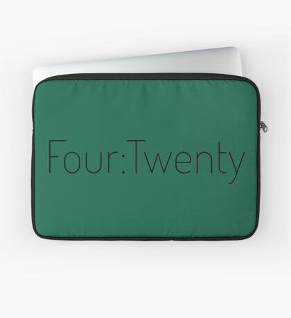 Four:Twenty 4:20 - Black with Green Laptop Sleeve