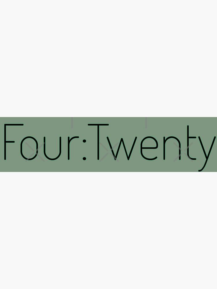 Four:Twenty 4:20 - Black with Green by willpate