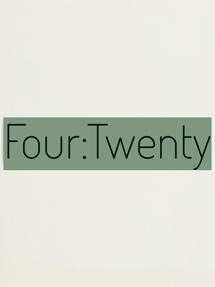 Alternate view of Four:Twenty 4:20 - Black with Green Photographic Print