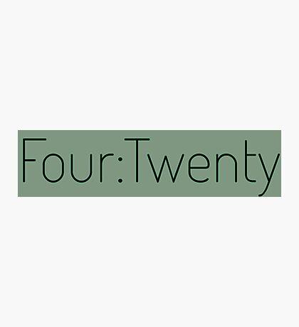 Four:Twenty 4:20 - Black with Green Photographic Print