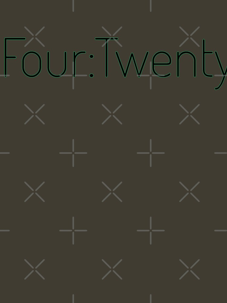Four:Twenty 4:20 - Black with Green by willpate