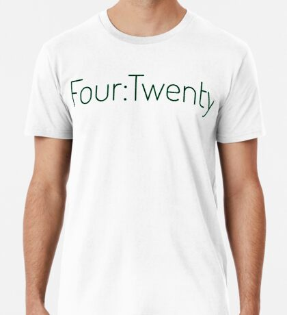 Four:Twenty 4:20 - Black with Green Premium T-Shirt