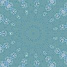 AQUA-batics variation 3 Greeny-blue geometric abstract pattern - jenny meehan by JennyMeehan