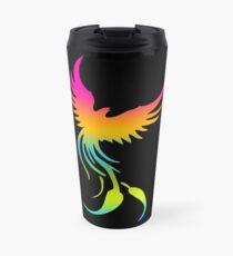 Colorful mythical bird Phoenix Travel Mug
