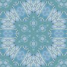 AQUA-batics variation 7 Greeny-blue geometric abstract pattern - jenny meehan by JennyMeehan