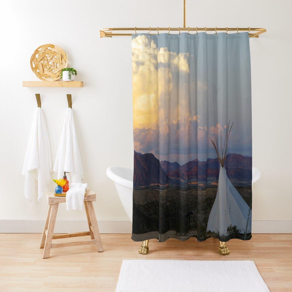 Terlingua Sunset Shower Curtain