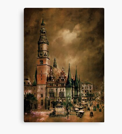 Wrocław(WRATISLAVIE)....1905 y Canvas Print