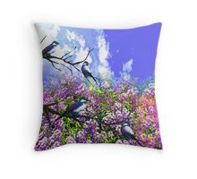 Quot Blue Birds And A Summer Day Quot Throw Pillows By Saundra