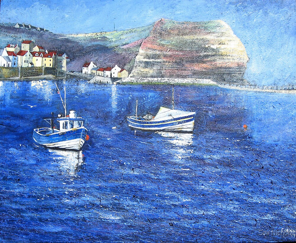 Perfect Day, Staithes by Sue Nichol